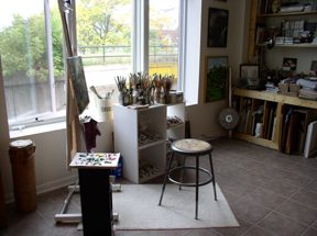 artist studio (Photo Credit: Laura Weathered)